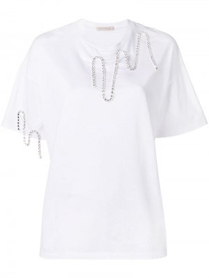 Декорированная футболка Christopher Kane. Цвет: белый