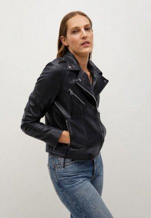 Куртка кожаная Mango - PERFECT. Цвет: черный