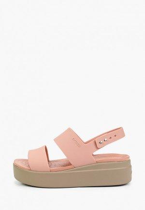 Босоножки Crocs. Цвет: розовый