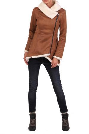 Пальто JUNONA. Цвет: коричневый
