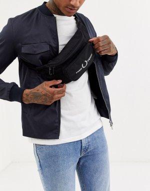 Черная сумка-кошелек на пояс с логотипом -Черный Fred Perry