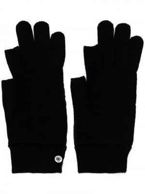 Перчатки с кнопками Rick Owens. Цвет: черный