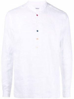 Рубашка с планкой на пуговицах Grey Daniele Alessandrini. Цвет: белый