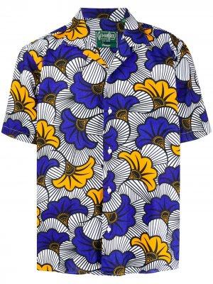 Рубашка с принтом Africa Floral Gitman Vintage. Цвет: синий