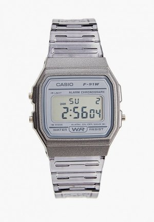 Часы Casio Collection F-91WS-8EF. Цвет: серый