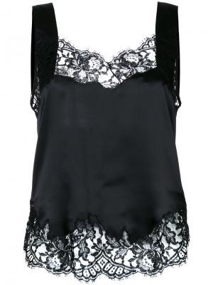 Lace trim vest Givenchy. Цвет: чёрный
