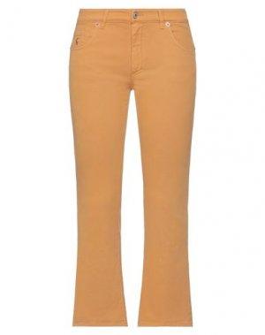 Повседневные брюки AVANTGAR DENIM by EUROPEAN CULTURE. Цвет: верблюжий