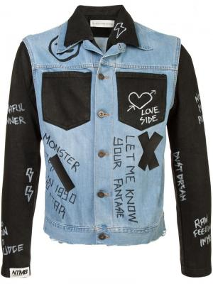 Джинсовая куртка с контрастными панелями Doodle Faith Connexion