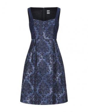Короткое платье I'M ISOLA MARRAS. Цвет: темно-синий