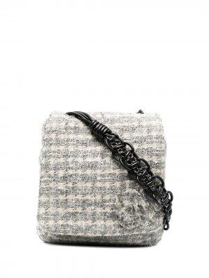 Твидовая сумка через плечо 2019-го года Chanel Pre-Owned. Цвет: нейтральные цвета