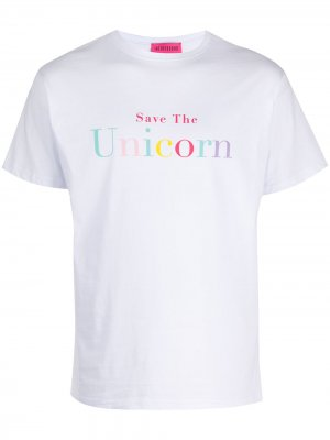 Футболка Save Unicorn IRENEISGOOD. Цвет: белый