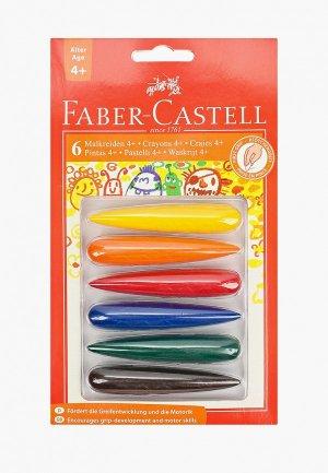 Набор мелков Faber-Castell восковых, 6 цветов. Цвет: разноцветный