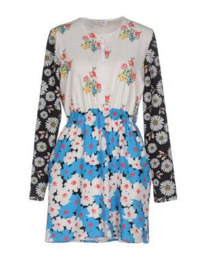 Короткое платье AU JOUR LE. Цвет: небесно-голубой