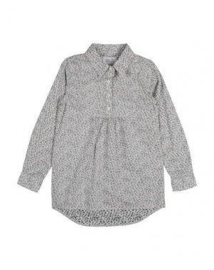 Pубашка little PIECES. Цвет: светло-серый