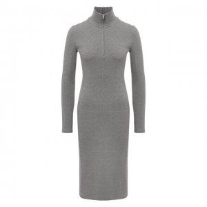 Хлопковое платье Rag&Bone. Цвет: серый