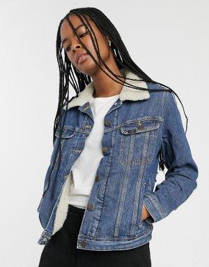 Джинсовая куртка Lee-Синий Lee Jeans