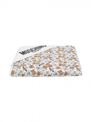 Bears print blanket Moschino Kids. Цвет: белый