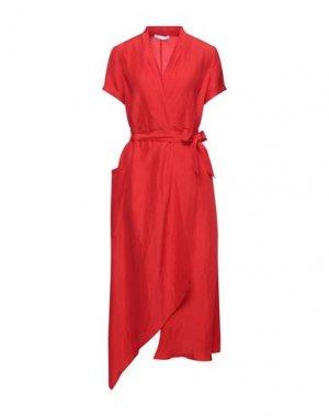 Платье длиной 3/4 CARACTÈRE. Цвет: красный