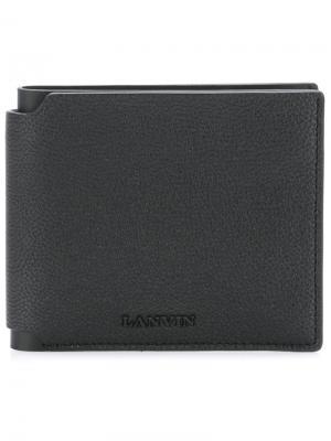 Классический бумажник Lanvin. Цвет: чёрный