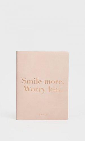 Ежедневник Smile More в обложке из искусственной кожи Stradivarius