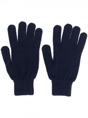 Knitted fitted gloves PAUL SMITH. Цвет: синий