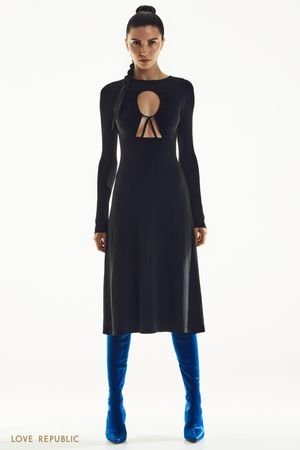 Платье-миди с акцентным лифом LOVE REPUBLIC