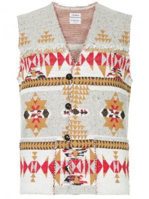Трикотажный жаккардовый жилет Coohem. Цвет: разноцветный