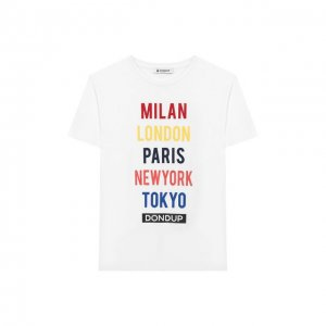 Хлопковая футболка Dondup. Цвет: белый