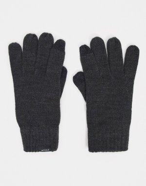 Темно-серые перчатки для сенсорных экранов -Серый French Connection