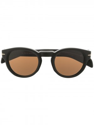 Солнцезащитные очки 7041/S в круглой оправе Eyewear by David Beckham. Цвет: коричневый