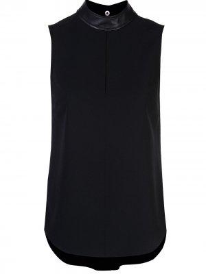 Блузка с контрастным воротником A.L.C.. Цвет: черный