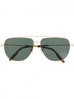 Солнцезащитные очки-авиаторы Ermenegildo Zegna. Цвет: золотистый