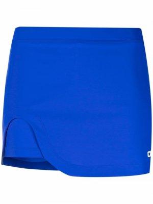 Юбка-шорты с логотипом Off-White. Цвет: синий