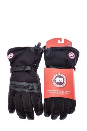 Пуховые перчатки 2 в 1 из нейлона и флиса CANADA GOOSE. Цвет: черный