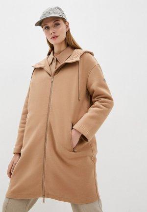Пальто Max Mara Leisure CRIS. Цвет: коричневый