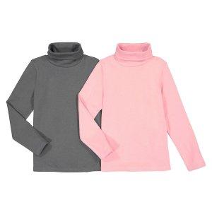 Комплект из 2 тонких пуловеров LaRedoute. Цвет: розовый