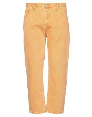 Укороченные джинсы DR. DENIM JEANSMAKERS. Цвет: охра
