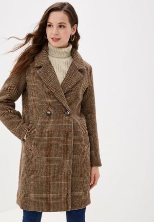Пальто b.young. Цвет: коричневый