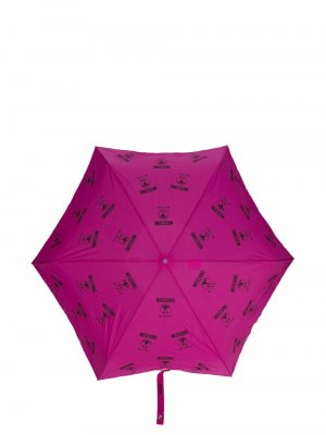 Зонт с логотипом Double Question Mark Moschino. Цвет: розовый
