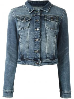 Укороченная джинсовая куртка Twin-Set. Цвет: синий