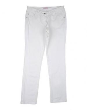 Повседневные брюки DENNY ROSE YOUNG GIRL. Цвет: белый