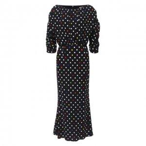 Платье из вискозы Christopher Kane. Цвет: чёрный