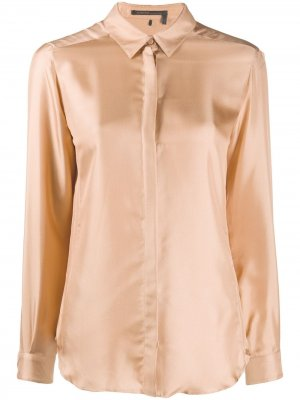 Рубашка с длинными рукавами Agnona. Цвет: нейтральные цвета