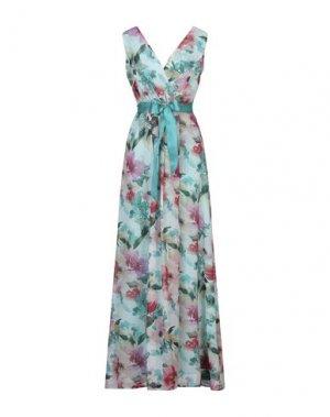 Длинное платье CASTING. Цвет: изумрудно-зеленый