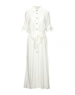 Длинное платье DRY LAKE.. Цвет: белый