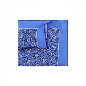 Шелковый платок Canali. Цвет: синий