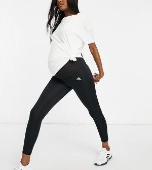 Черные леггинсы длиной 7/8 adidas Training Maternity Designed To Move-Черный цвет performance