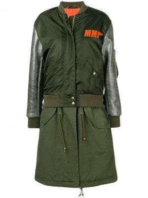 Куртка-бомбер с вышивкой Mr & Mrs Italy. Цвет: зеленый