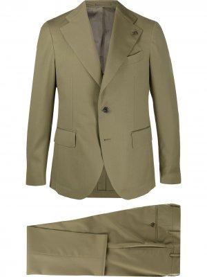 Пиджак с декором в виде логотипа Gabriele Pasini. Цвет: зеленый