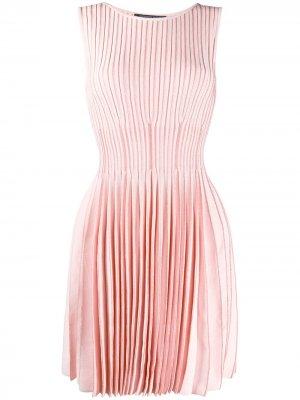 Трикотажное платье со сборками Antonino Valenti. Цвет: розовый